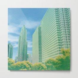 City Perspective Metal Print