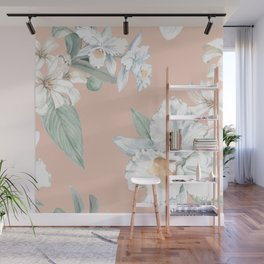 Romantic Floral Pattern Wall Mural
