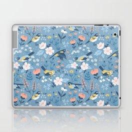Birds & Blooms (Blue) Laptop & iPad Skin