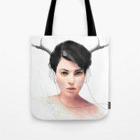 jenny liz rome Tote Bags featuring Liz by J U M P S I C K ▼▲