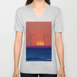 Windmills to the Sun Unisex V-Neck