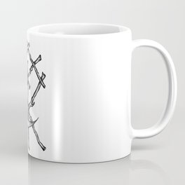 Crescent Moon Rune Binding Coffee Mug