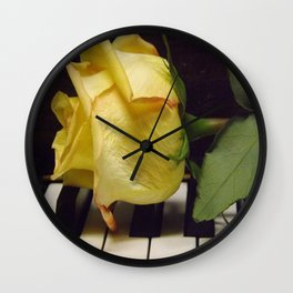 Melody Of A Rose Wall Clock