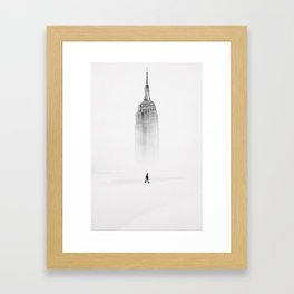 Alone with Empire State Building by GEN Z Framed Art Print