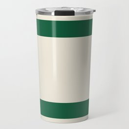 Rustic Lodge Stripes Black Yellow Red Green Travel Mug