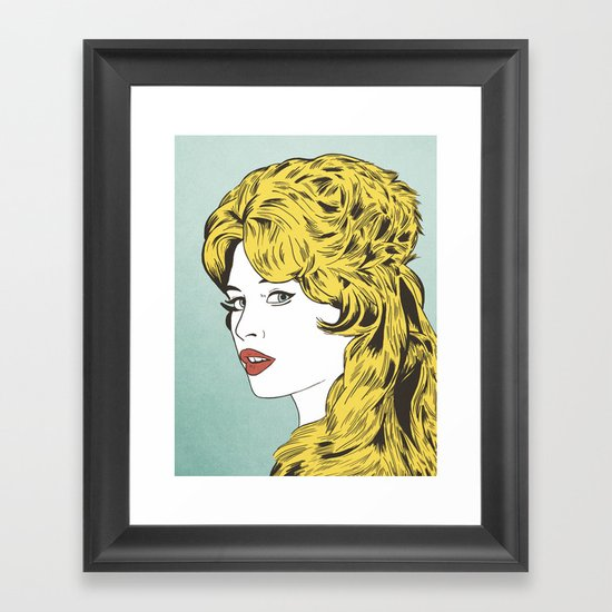 Blonde Bombshell Framed Art Print