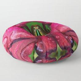 Rain Rose Butterfly Floor Pillow