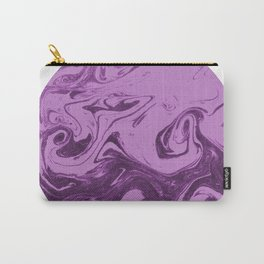 Marble circle minimal design suminagashi japanese marbling minimalist art pastel purple white Carry-All Pouch
