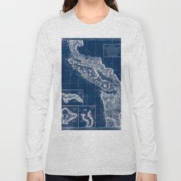 Vintage Blueprint of PNW Long Sleeve T-shirt