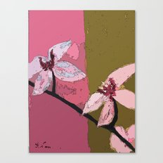 Digital Painting - Title: Yin and Yan ( Orchid Blossoms) Canvas Print