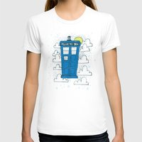 tardis T-shirts featuring blue box by Matthew Taylor Wilson