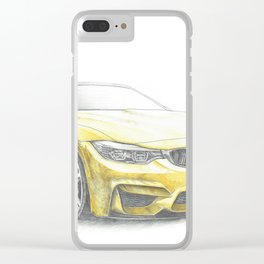 Yellow sport car Clear iPhone Case