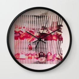 Love Lock Gate Wall Clock