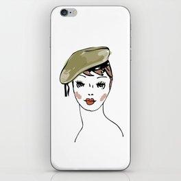 Beret Hat iPhone Skin