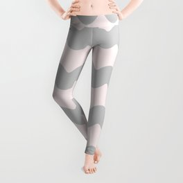 Winter 2018 Color: Gasp Gray on Millennial Pink Waves Leggings