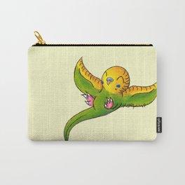 Little Green Parakeet Carry-All Pouch