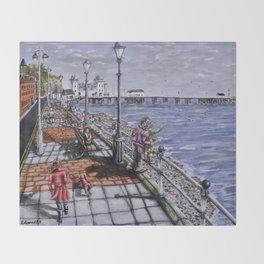 Penarth Seafront Throw Blanket