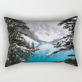 Paradise in the Mountains (Color) Rectangular Pillow