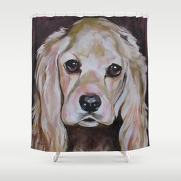 Cocker Spaniel Dog Pet Portrait Shower Curtain
