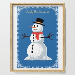 Frosty the Snowman Serving Tray