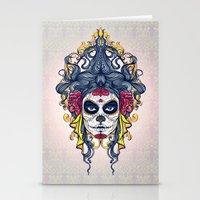 dia de los muertos Stationery Cards featuring Dia de los Muertos by merci