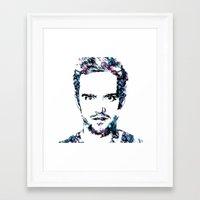 jesse pinkman Framed Art Prints featuring Jesse Pinkman by NKlein Design