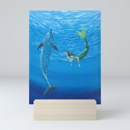 Mermaid & Dolphin - No. 2 Mini Art Print