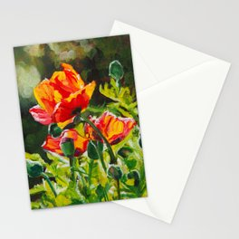 Lit-up poppies Stationery Cards