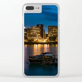 Still Night in Portland Clear iPhone Case