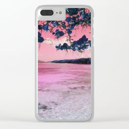 Pink Water Clear iPhone Case