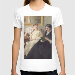 The Mother and Sister of the Artist - Marie-Joséphine & Edma by Berthe Morisot T-shirt
