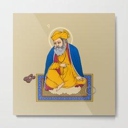 Sri Guru Nanak Dev Ji Metal Print