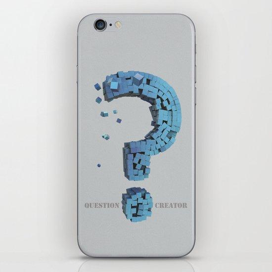 Question Creator iPhone & iPod Skin