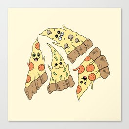 Ghost Pizzas Canvas Print