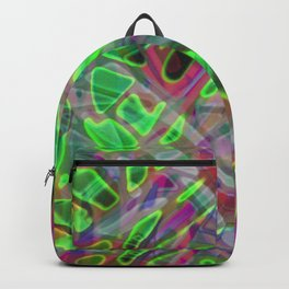 Colorful Abstract Stained Glass G300 Backpack