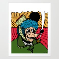 SEVERED EAR.  (Self Portait Of Van Gogh). Art Print