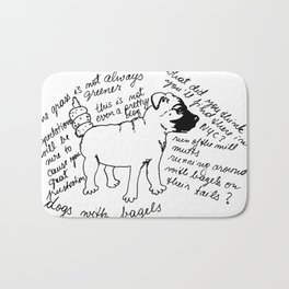 Dogs with Bagels - Anniversary Edition Bath Mat