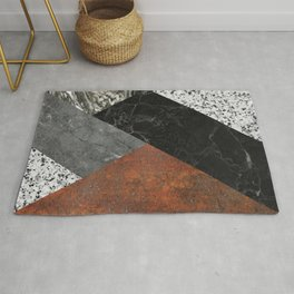 Marble, Granite, Rusted Iron Abstract Rug