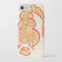 bon iver iPhone & iPod Cases featuring Bon Bon Girl - Flowers by Modondi