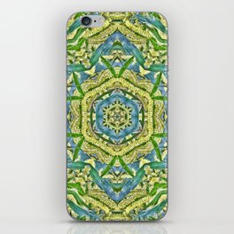 Beautiful wattle mandala iPhone Skin
