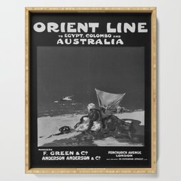 retro old Orient Line Egypt Colombo Australia poster Serving Tray