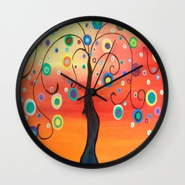 Fiesta Tree Wall Clock