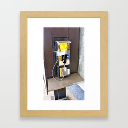 Where have all the pay phones gone? #2 Framed Art Print