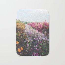 field of flowers Bath Mat