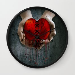 The Resilient Heart Wall Clock