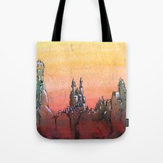 Mountain Stronghold Tote Bag
