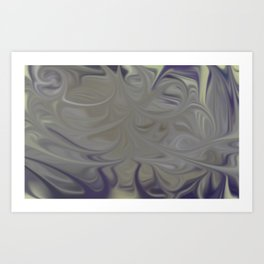 Smudged Colours 16 Art Print