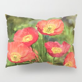 Little red poppies Pillow Sham