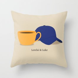 Lorelai & Luke Throw Pillow