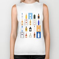 bar Biker Tanks featuring Open Bar by Liz Slome